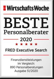 WiWo_Beste Personalberater 2020_Kategorie Finanzdienstleistungen